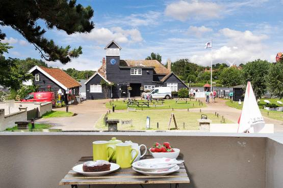 The view of Thorpeness Meare from the Balcony at Regatta