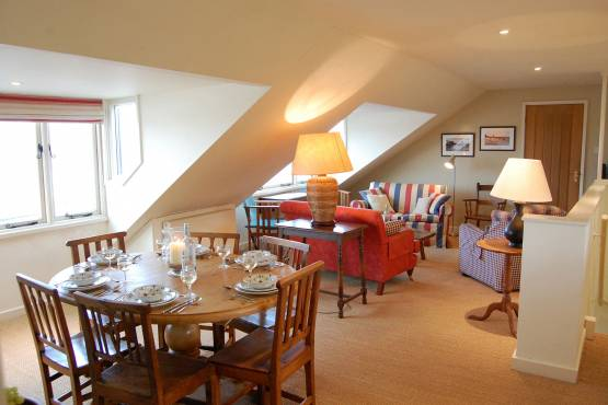 Dining room and lounge at The Boathouse, Burnham Market, Norfolk