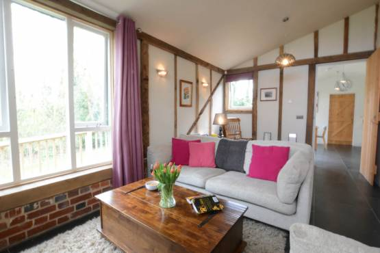 The Lounge at Yew Tree Farm Stable, Worlingworth, Suffolk